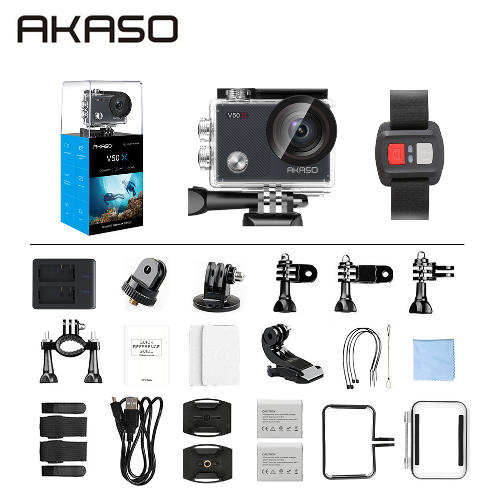 Hot DealsAKASO Action-Camera Wifi EIS 4k30fps Touch-Screen V50X with Adjustable View Angle-131