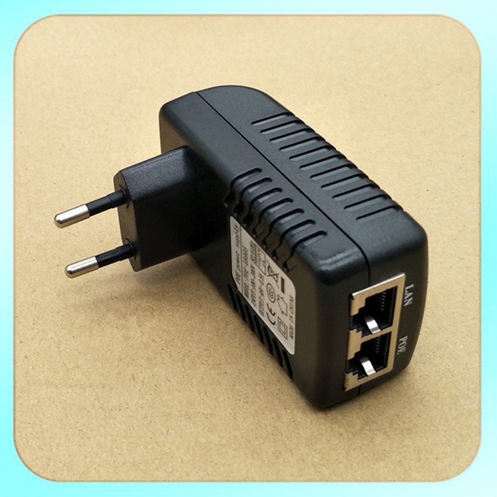 POE Injector 12V/24v/48V 0.5A Poe Power Adapter Injector Voor IP Video Surveillance Camera 802.3af EU Plug