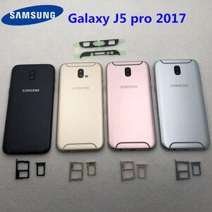 Image 2 - สำหรับSamsung Galaxy J5 2017 J5 Pro J530Fเต็มรูปแบบแบตเตอรี่กลางปกหลังJ530 SM J530F LCDด้านหน้าเลนส์ + เครื่องมือ