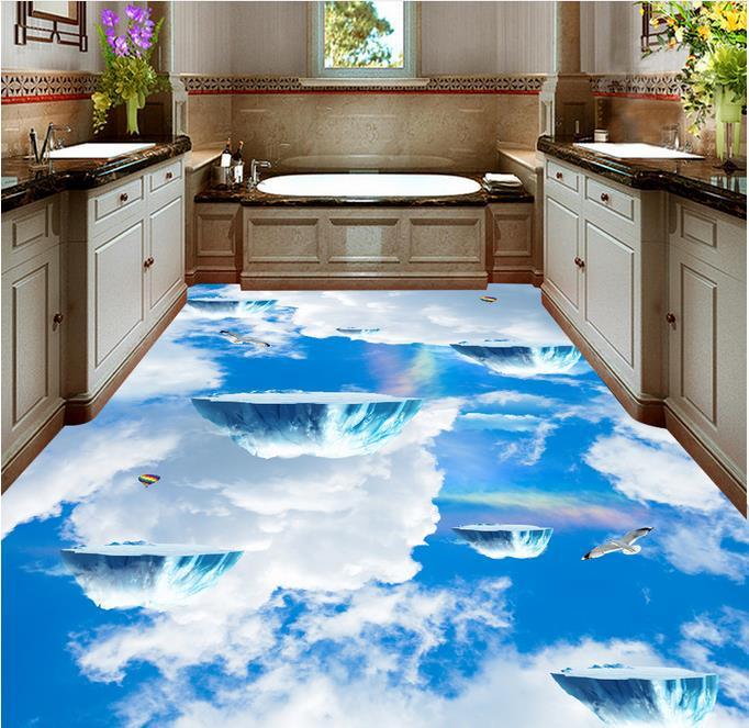Epoxy Grout For Bathrooms: 3d Photo Wallpaper Custom Waterproof 3d Floor Stickers