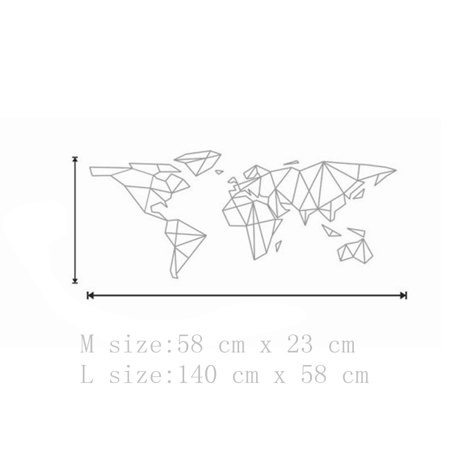 Map of the world vinyl wall decal home decor geometric removable map of the world vinyl wall decal home decor geometric removable world map wall sticker in wall stickers from home garden on aliexpress alibaba gumiabroncs Image collections