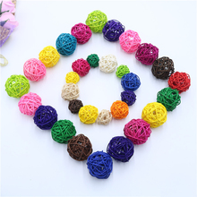 20PCS/Lot 3CM Multicolor Rattan Ball DIY Balls Home Ornaments/Christmas/Birthday/Wedding Party Decorations Kids Toys