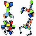 Qiyi 3D красочный магический куб  линейка 24/48/72 блоков  секций  змея  твист  головоломка  куб  обучающие игрушки для детей