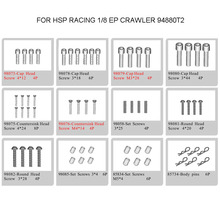 HSP RACING SPARE PARTS ACCESSORIES SCREWS FOR 1/8 SCALE ELECTRIC POWERED CRAWER RC CAR 94880T2 270pcs mayitr repair tool screws box assortment kit set for 1 10 hsp rc car accessories