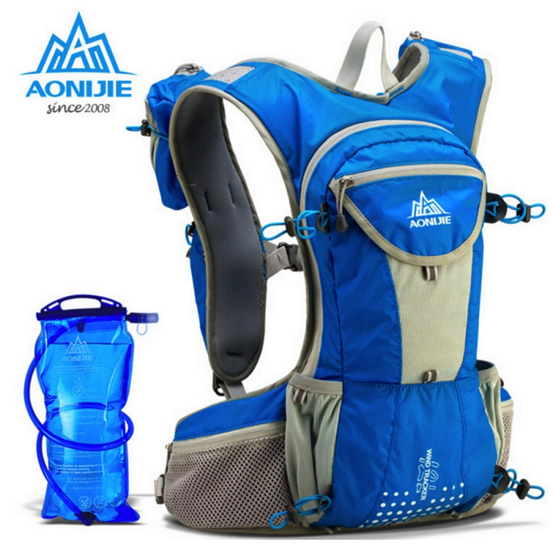 AONIJIE Waterproof Running Nylon Backpack 12L Outdoor Ultralight Travel  Hydration Water Pack Sport Climbing Cycling Hiking Bag 13071ff532e19