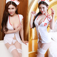 Hot Sexy Lingerie Erotic Sexy Costumes For Women Plus Size Sexy Nurse Costume Button Erotic Uniform