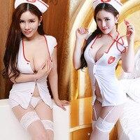 Hot Sexy Lingerie Erotic Sexy Costumes For Women Plus Size Sexy Nurse Costume Button Erotic Uniform