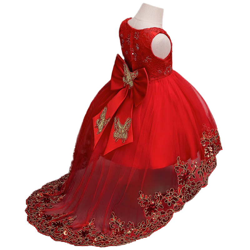 2-12yrs Lace Girls Embroidery Princess Dress For Girl Trumpet Birthday Party Baby Girl's Christmas Clothes Trumpet / Mermaid все цены