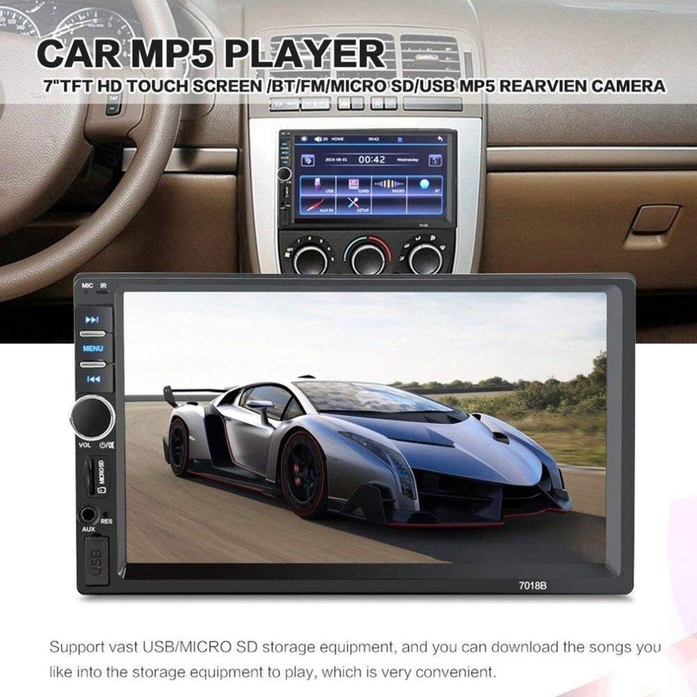 7018B 2 Din 7 Сенсорный экран автомобиля MP5 плеер аудио стерео FM радио Bluetooth MP3 плеер Поддержка TF мультимедийный плеер