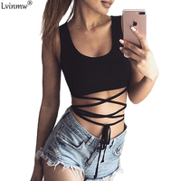 Lvinmw Lace Up Bow Charming Women T Shirt White Cotton Off Shoulder Summer Crop Top U