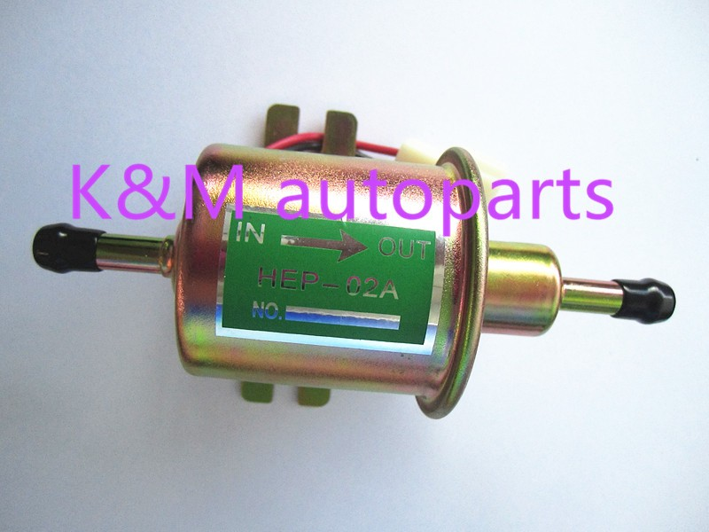 High quality free shipping Universal Diesel Petrol Gasoline Electric Fuel Pump HEP-02A Low Pressure 12V HEP02A
