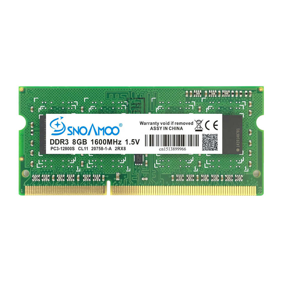 SNOAMOO ノートブックメモリ DDR3 ギガバイト 4 8 ギガバイト 1333 mhz 1600 mhz 用 PC3-10600S メモリアラムノートブックメモリ SO-DIMM 1.5 ボルト保証