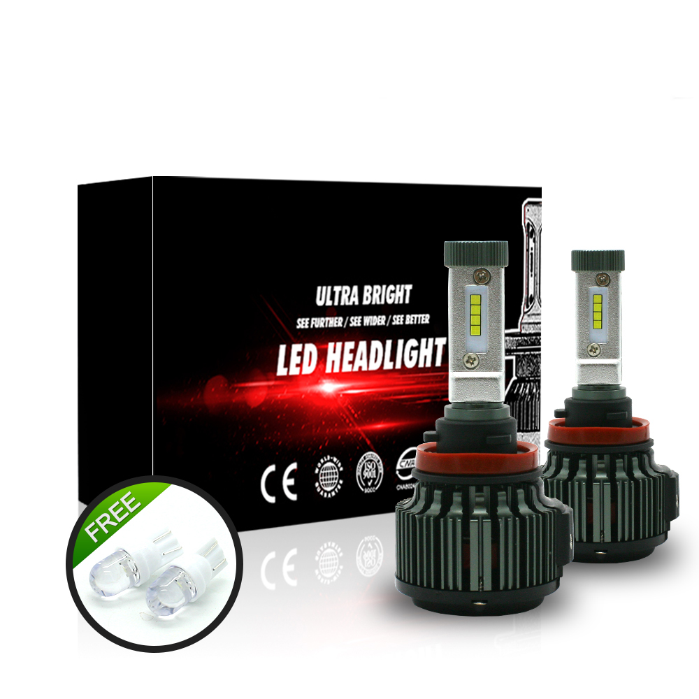 T2 H4 LED H7 H8 H11 9005 9006 Hi/Lo 80W 9600LM EMC TURBO 6000K Strong Bright Car Headlight Fog Light Conversion Kit
