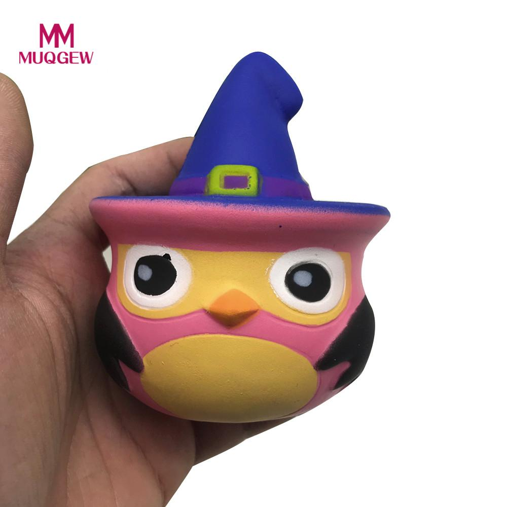 New arrival 1PC Owl With Hat Squishy Cartoon Squishy Toys Slow Rising Scented Gift squeeze toy squishy funny gadgets oyuncak