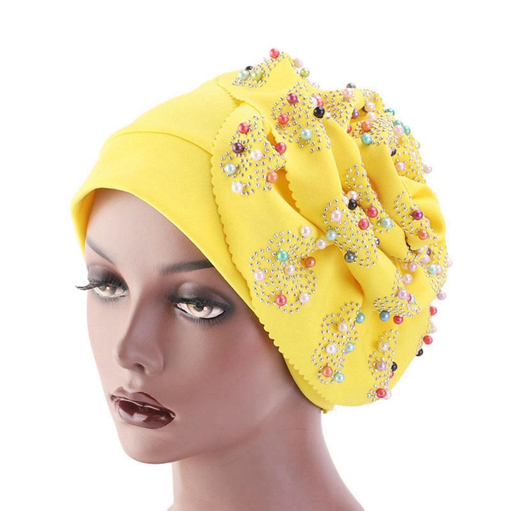 81acf1780 Cheap Sombrero musulmán elegante para mujer, gorras de quimono de perlas  con diamantes de imitación