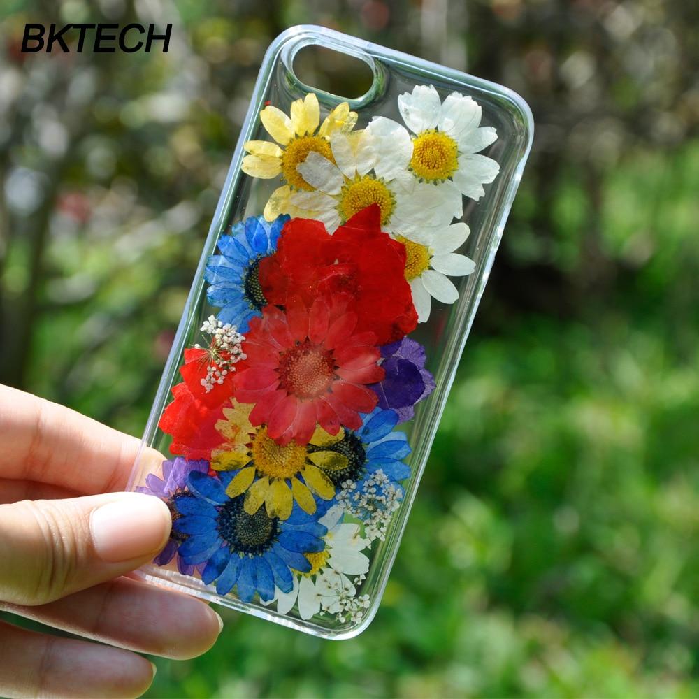 6S Ultra thin Silicon Real Floral Θήκες για iPhone 7 7 Plus 6 - Ανταλλακτικά και αξεσουάρ κινητών τηλεφώνων