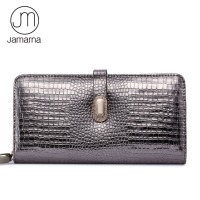 Jamarna Brand Wallet Female Genuine Leather Long Clutch Women Purse With Phone Holder Women Wallets Fashion Crocodile Leather