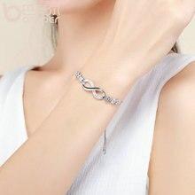 Silver Color Endless Love Infinity Bracelet