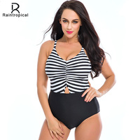 Raintropical Sexy One Piece Swimsuit Women Swimwear 2016 Beach Wear Padded Backless Sunflower Monokini Swimsuit Bathing