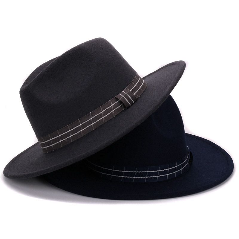 c73a5893a5b Good quality Panama fedoras artificial wool Pure Cashmere Shaped Solid Borsalino  Hat winter Felt gambler Hat for men and women-in Fedoras from Apparel ...