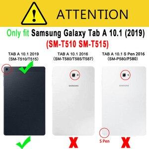 Image 5 - Dành Cho Samsung Galaxy Tab A 10.1 2019 Bao T510 T515 SM T510 SM T515 Chống Sốc Silicon Đứng Coque Funda + Dán Màn Hình tấm Bảo Vệ