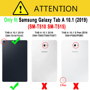 Image 5 - For Samsung Galaxy Tab A 10.1 2019 Case Cover T510 T515 SM T510 SM T515 Shockproof Silicon Stand Coque Funda + Screen Protector