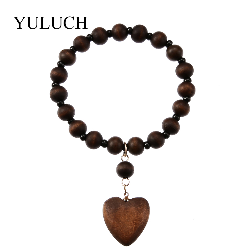 YULUCH Round Natural Wood...