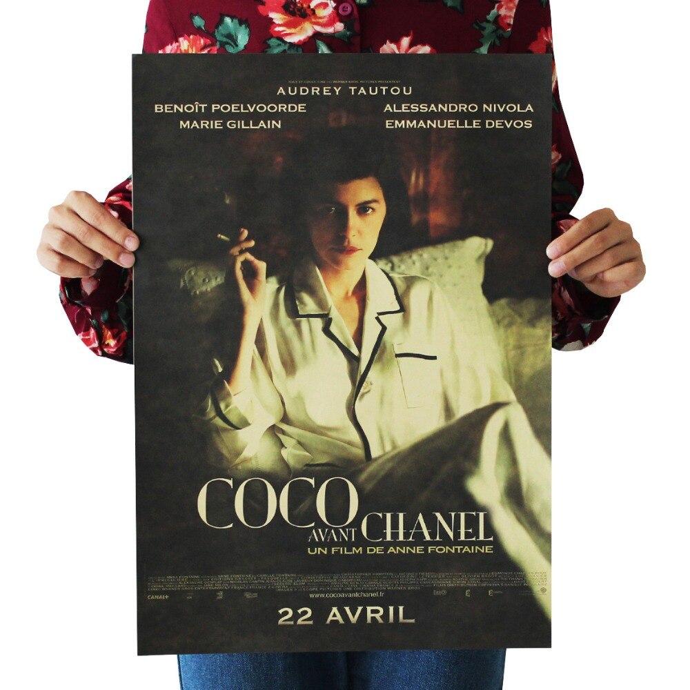 Coco Avant Chanel/Audrey Tautou/classic Movie Film Poster/kraft Paper/bar Poster/Retro Poster/decorative Painting 51x35.5cm