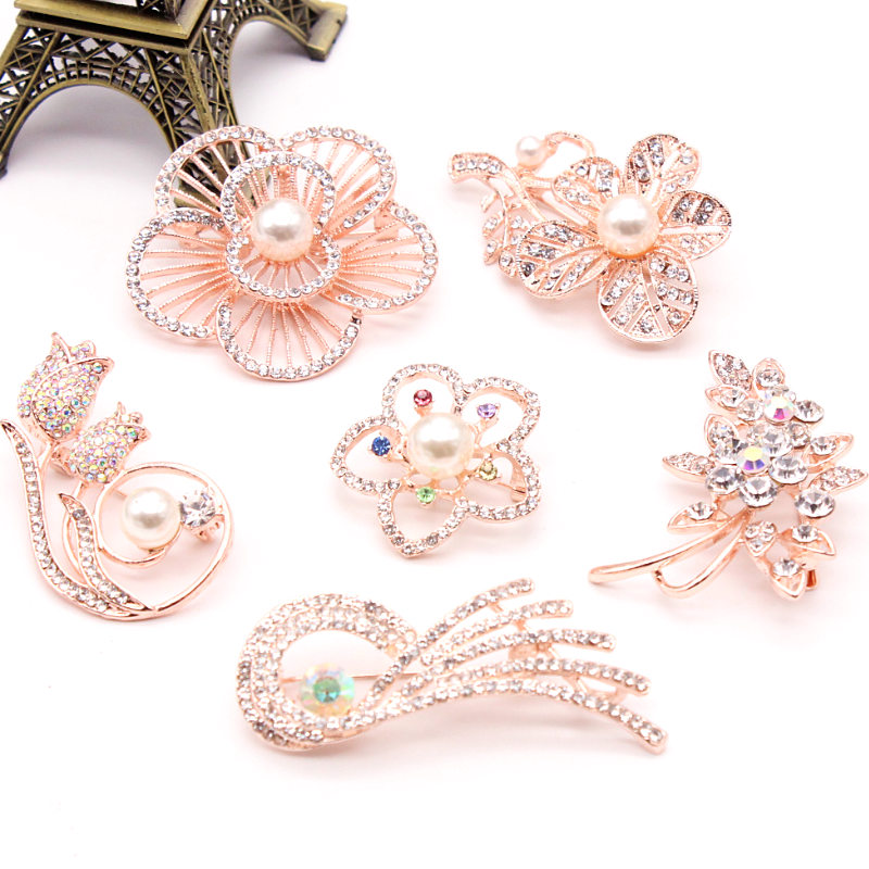 5e6cbc5ace6 10 Style Charm Rose Enamel Pin Brooch Flower Daisy Brooches For Women  Jackets Badge Accessories Diy