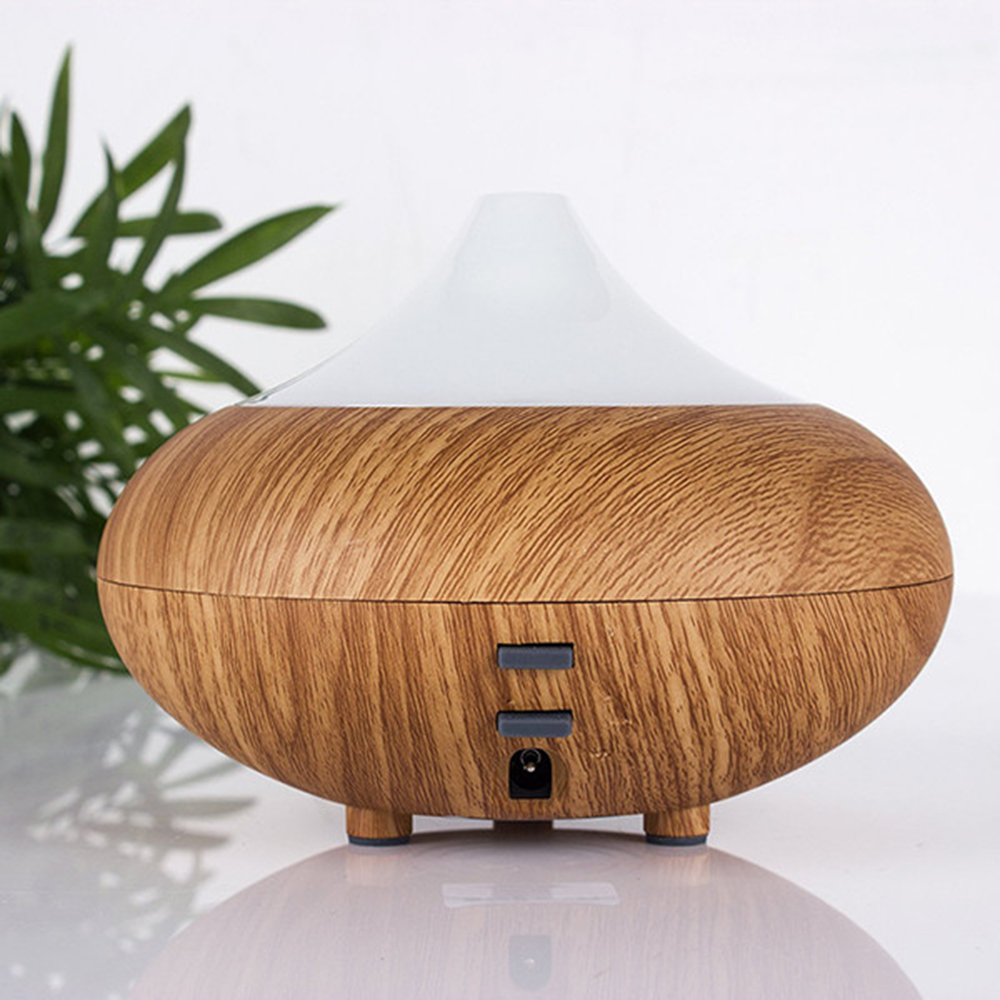 Ultrasonic Air Humidifier Aroma Diffuser Wood Grain Aromatherapy For Office Purifier Mist Maker 12W Super Quite
