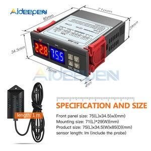 Image 5 - Termostato Digital lED de STC 3028, termómetro de temperatura, humedad, higrómetro, interruptor de calefacción de refrigeración, Sensor NTC