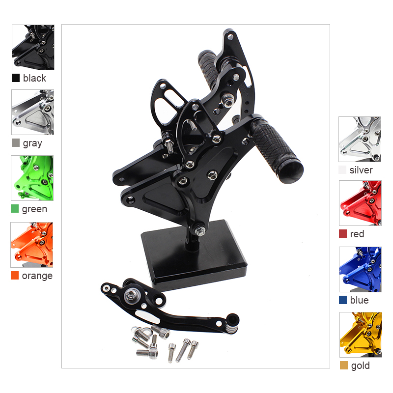 Aluminum Footrests Rear Sets Foot Pegs Pedals For Buell XB9S XB12S XB9R XB12R