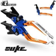 For KTM Duke 790 2018 2019 Motorcycle Accessories Foldabel Extendable  Handle Grips Brake Clutch Levers WITH DUKE LOGO
