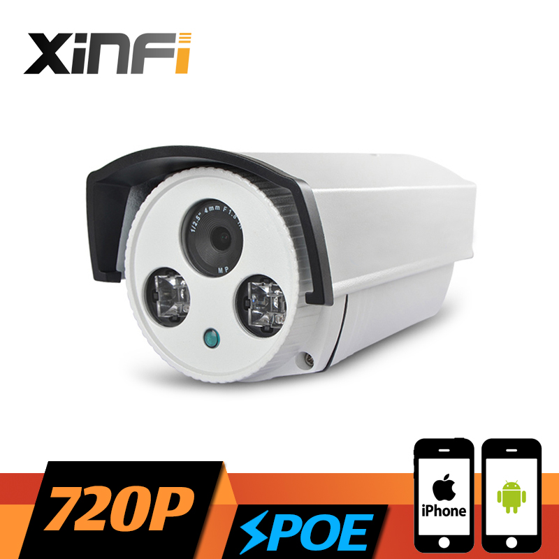 ФОТО XINFI HD 720P Surveillance POE Camera 1.0 MP Outdoor Waterproof network CCTV IP camera P2P ONVIF 2.0 PC&Phone remote view