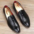 Patent leather business casual shoes new Men Oxfords 2017 sping lace up Male Wedding Shoes Dress Shoes US size 9 black blue shoe