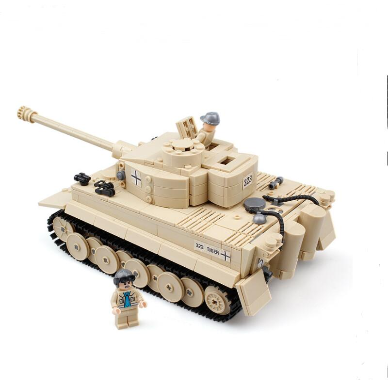 995pcs Century Military German King Tiger Tank Cannon Building Blocks Bricks Model Sets AIBOULLY 82011 Toys Compatible Gift aiboully city 7014 7017 model the louvre in paris rome fontana di trevi building blocks sets bricks toys compatible with gift