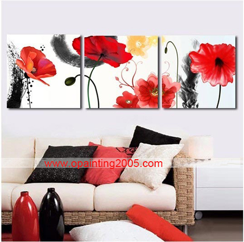New hand painting mural decorative paintings 3 piece for Decorative mural painting
