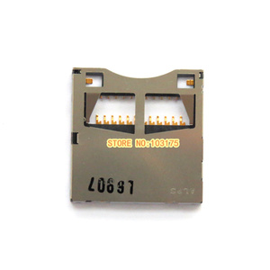 New SD Memory Card Slot Holder assembly for Panasonic LX2 LX3 LX4 LX5 MDH1 GM1GK FH8 FZ18 Camera Repair Part(China)