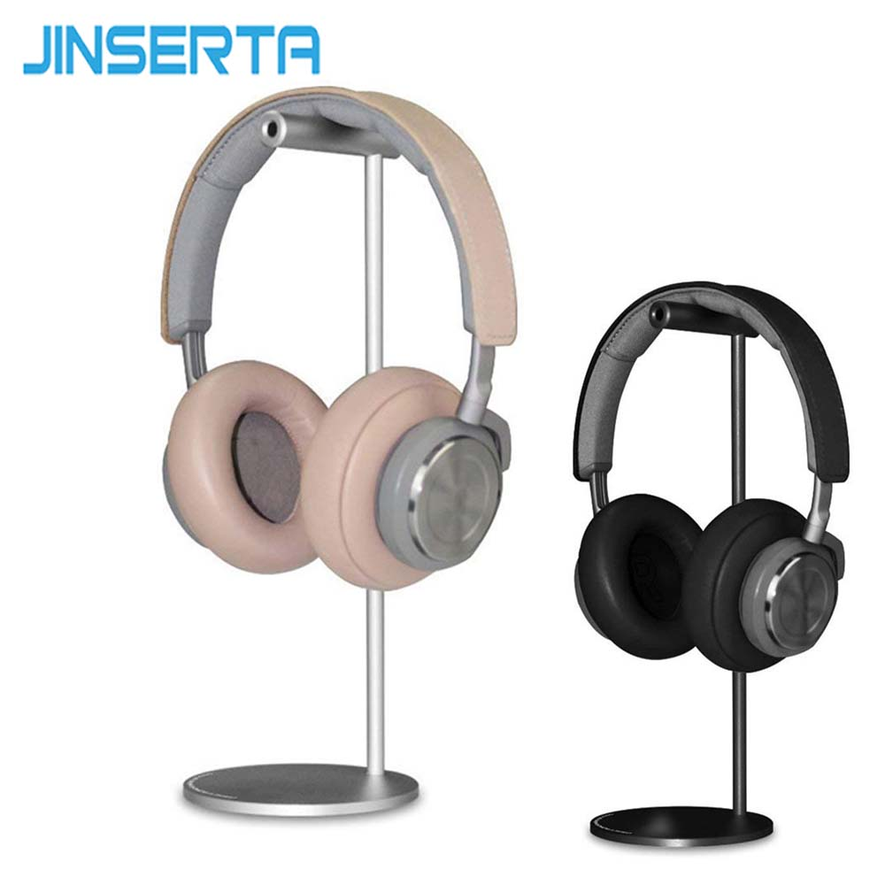JINSERTA Headphone Holder Aluminum Fashion Design Headphones Stand Headset Desktop Stand Hanger with Solid Base avantree universal aluminum desk headphone stand hanger with cable holder for sennheiser sony audio headphone holder