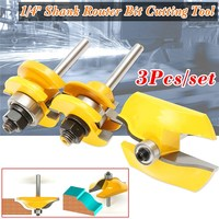 3Pcs Set 1 4 Shank Ogee Raised Panel Rail Stile Router Bits Cutting Tools Milling Cutter