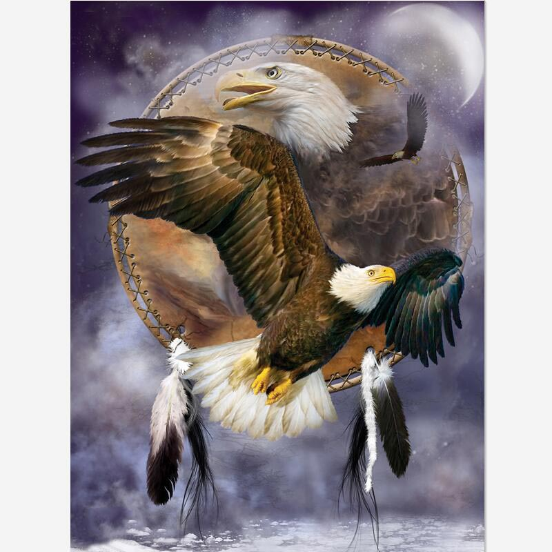 5D Diamond Embroidery Eagle Painting DIY Cross Stitch Home Office Decor