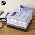 Chegada nova Top Quality Mens Camisas Ocasionais Dos Homens de Roupas de Marca Não-Ferro Camisas Oxford dos homens de Cor Sólida Clássico Camisa Casual Denim