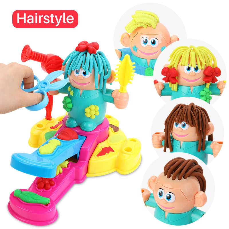 Hairdresser Colour Clay Toys Diy Play Dough Molding Tool Kit Best