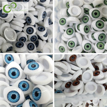 60Pcs/Lot Plastic Doll Safety Eyes For Animal Toy Puppet Making DIY Craft Accessories 4 Colors 3 Sizes Wholesale GYH(China)