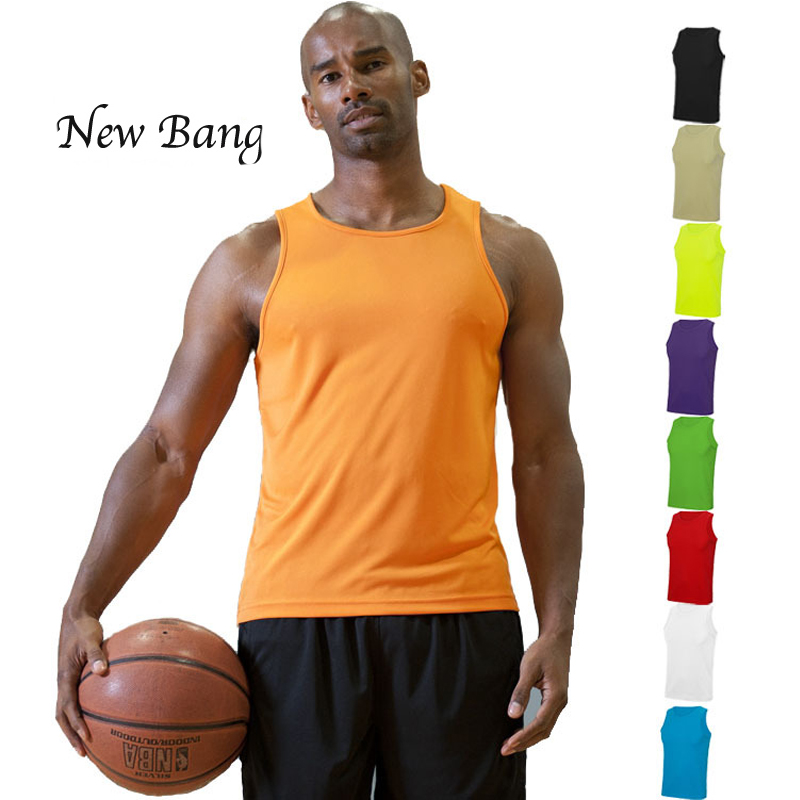 2017   Tank     Tops   Men 100% Polyester   Tank     Top   Quick Dry Sleeveless Undershirt Fitness   Tank     Top   Big Size
