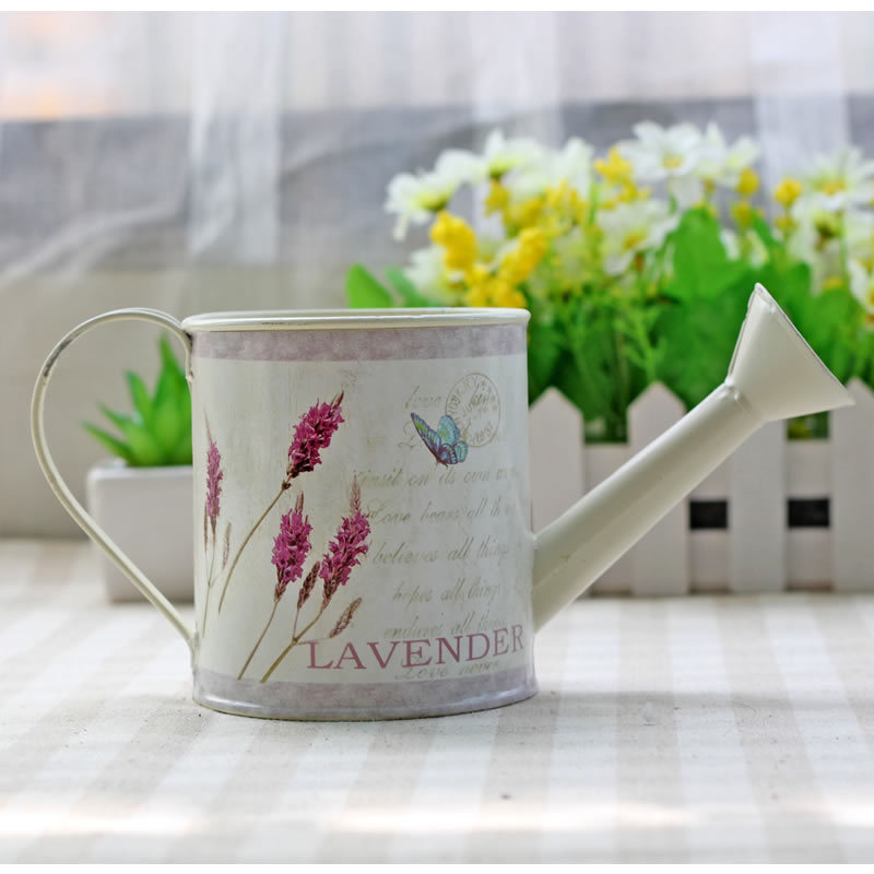 Pastoral Style Metal <font><b>Flower</b></font> Arrangement Pot Hand-painted Metal Artificial <font><b>Flower</b></font> Pot <font><b>Flower</b></font> Vase Metal Artcraft Gift 0504