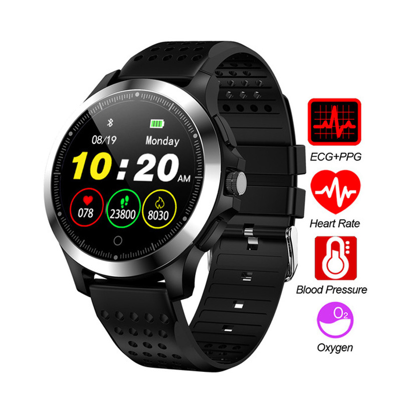 Monitor Fitness-Tracker Bluetooth-Watch Smart-Color W8 Screen-Bracelet ECG PPG Blood-Pressure-Heart-Rate