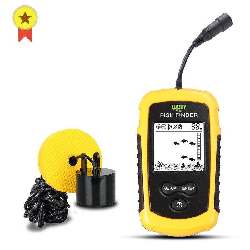 Russian Manual Lucky FF1108 1 FFW1108 1 Portable echo sounder Sonar Depth Ocean River
