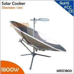 Cocina solar portátil con 1,5 m de diámetro, 1800W, con certificado CE