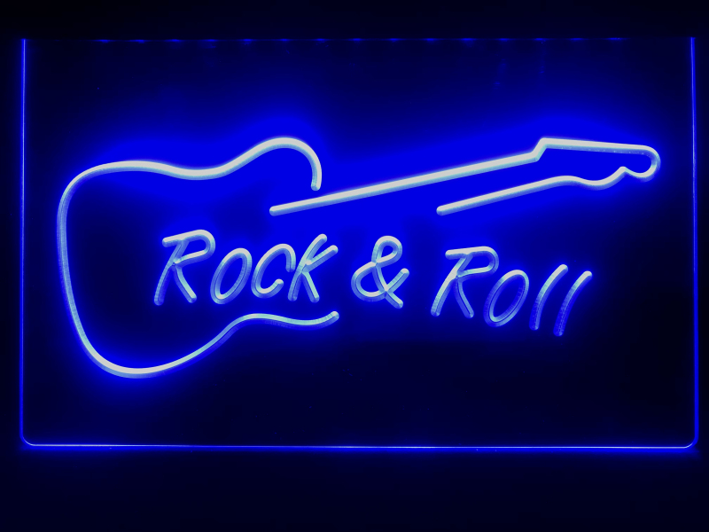 Rolling Stones LED Neon Light Sign Hanging Wall Decor Plaque Acrylic